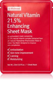 By Wishtrend Natural Vitamin укрепляющая тканевая маска