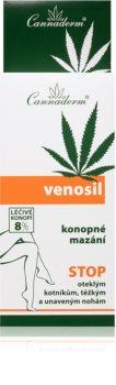 Cannaderm Venosil hemp pain relief cream Hanf Gel für die Linderung von schweren Füßen