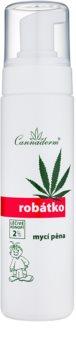 Cannaderm Robatko espuma de limpeza para crianças