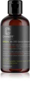 Canneff Green CBD Gentle Shampoo регенериращ шампоан  за блясък и мекота на косата