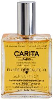 Carita Lait de Beauté 14 huile sèche nourrissante visage, corps et cheveux