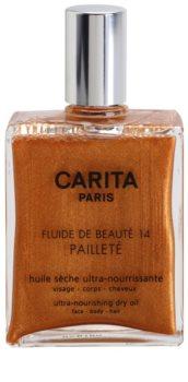 Carita Beauté 14 óleo seco nutritivo com glitter