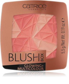 Catrice Blush Box Glowing + Multicolour Rdečilo za posvetlitev