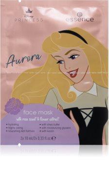 Essence Disney Princess Aurora pleťová maska s vyživujícím účinkem