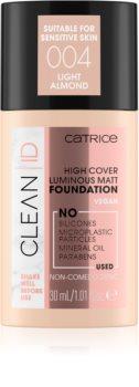 Catrice Clean ID High Cover Luminous Matt fedő make-up matt hatással
