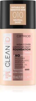 Catrice Clean ID High Cover Luminous Matt prekrivni tekoči puder z mat učinkom