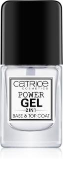 Catrice Power Gel 2 in1 lakier bazowy i nawierzchniowy do paznokci
