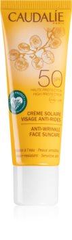 Caudalie Suncare слънцезащитен крем за лице с антибръчков ефект SPF 50