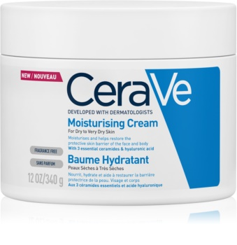 CeraVe Moisturizers hidratantna krema za lice i tijelo za suhu i vrlo suhu kožu