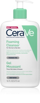CeraVe Cleansers tisztító habzó gél normál és zsíros bőrre
