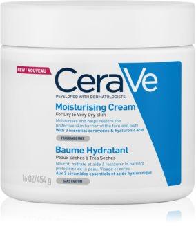 CeraVe Moisturizers crema idratante viso e corpo per pelli secche e molto secche