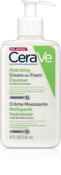 CeraVe Cleansers crema de curatare sub forma de spuma pentru ten normal spre uscat