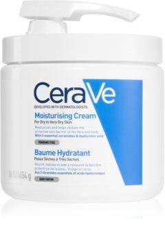 CeraVe Moisturizers feuchtigkeitspendende Creme für Gesicht und Körper mit Pumpe