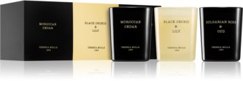 Cereria Mollá Boutique Moroccan Cedar, Black Orchid & Lily, Bulgarian Rose & Oud zestaw upominkowy IV.