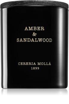 Cereria Mollá Boutique Amber & Sandalwood dišeča sveča