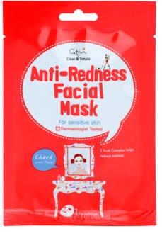 Cettua Clean & Simple máscara em folha para a pele sensível com tendência a aparecer com vermelhidão