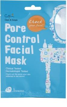 Cettua Clean & Simple masque tissu pour resserrer les pores et pour un look mat