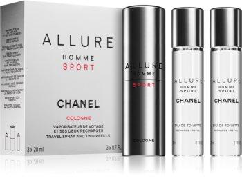 Chanel Allure Homme Sport Cologne одеколон (1 бр. зареждащ се + 2 бр. пълнеж) за мъже