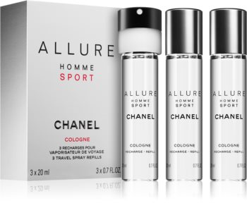 Chanel Allure Homme Sport Cologne Kölnin Vesi (3x täyttöpakkaus) Miehille