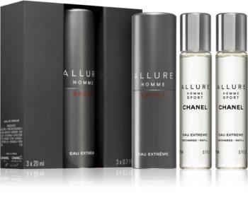 Chanel Allure Homme Sport Eau Extreme Eau de Toilette (1x nachfüllbar + 2x nachfüllung) für Herren