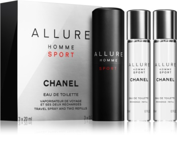 Chanel Allure Homme Sport toaletná voda (1x plniteľná + 2x náplň) pre mužov