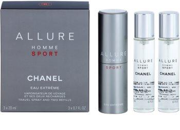 Chanel Allure Homme Sport Eau Extreme туалетная вода (1x многоразового использования + 2x сменных блока) для мужчин