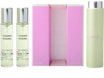 Chanel Chance Eau Fraîche toaletní voda (1x plnitelná + 2x náplň) pro ženy