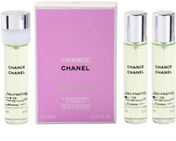 Chanel Chance Eau Fraîche eau de toilette (3 x recarga) para mulheres