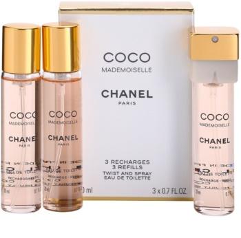 Chanel Coco Mademoiselle Eau de Toilette 3 reincarcari pentru femei