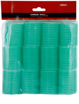 Chromwell Accessories Green rulos de velcro para cabello