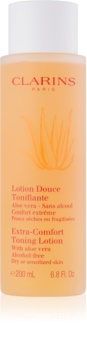Clarins Extra-Comfort Toning Lotion osvežilni tonik za suho in občutljivo kožo