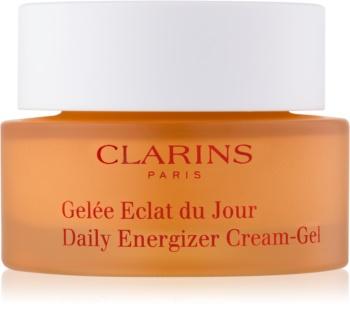 Clarins Daily Energizer Cleansing Gel crema gel hidratanta protectoare pentru zi pentru ten gras și mixt