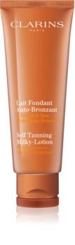 Clarins Self Tanning Milky-Lotion crème auto-bronzante corps et visage pour un effet naturel