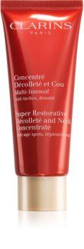 Clarins Super Restorative Décolleté and Neck Concentrate укрепляющий крем против морщин для области шеи и декольте