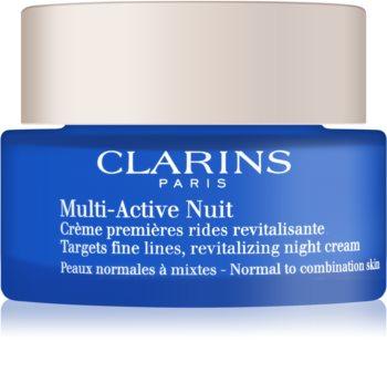 Clarins Multi-Active crème de nuit revitalisante lignes fines pour peaux normales à mixtes