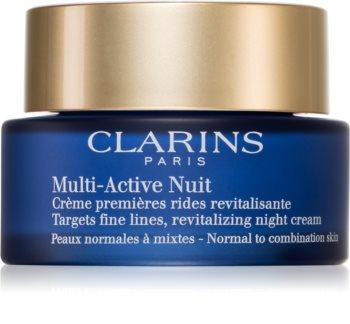Clarins Multi-Active Night crema de noche revitalizante para suavizar las líneas de expresión para pieles normales y mixtas