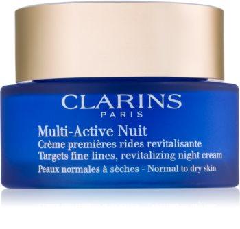 Clarins Multi-Active Night нощен ревитализищ крем за фини бръчки за нормална и суха кожа