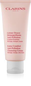 Clarins Extra-Comfort Anti-Pollution Cleansing Cream cremă de curățare cu efect de hidratare
