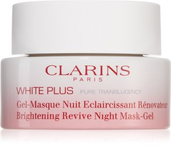 Clarins White Plus Pure Translucency Brightening Revive Night Mask-Gel rozjasňující noční maska