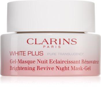 Clarins White Plus Pure Translucency Brightening Revive Night Mask-Gel White Plus Pure Translucency Brightening Revive Gel