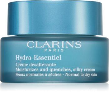 Clarins Hydra-Essentiel Silky Cream копринено нежен хидратиращ крем  за нормална към суха кожа
