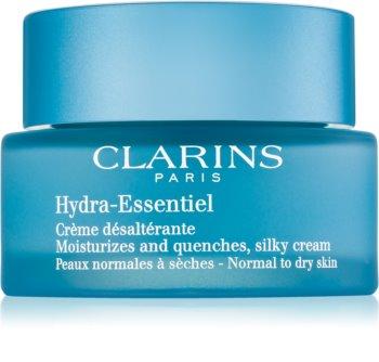 Clarins Hydra-Essentiel hodvábne jemný hydratačný krém pre normálnu až suchú pleť