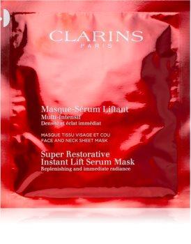Clarins Super Restorative Instant Lift Serum Mask machera anti-age concentrata viso