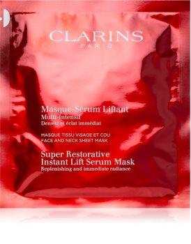 Clarins Super Restorative Instant Lift Serum Mask концентрована омолоджуюча маска для обличчя