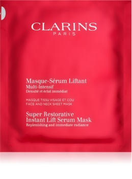 Clarins Super Restorative Instant Lift Serum Mask maseczka regenerująca Do natychmiastowego wygładzenia zmarszczek.