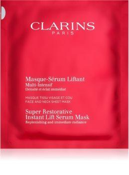 Clarins Super Restorative Instant Lift Serum Mask obnovitvena maska za takojšnjo zgladitev gub