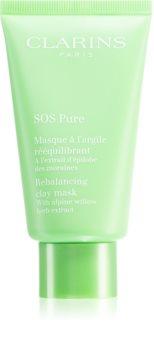 Clarins SOS Pure Rebalancing Clay Mask mască cu argilă pentru piele mixta spre grasa