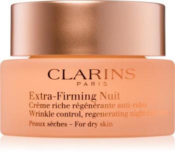 Clarins Extra-Firming Night ночной укрепляющий крем против морщин для сухой кожи лица