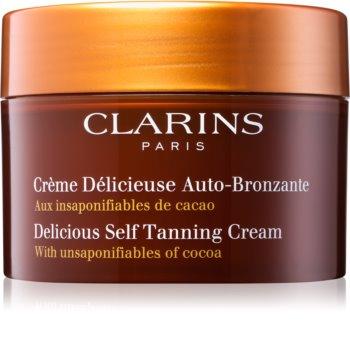 Clarins Delicious Self Tanning Cream samoopalovací krém na tělo a obličej s kakaovým máslem