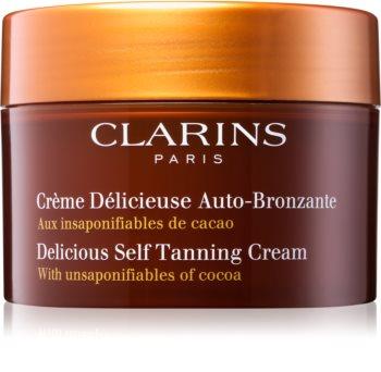 Clarins Sun Self-Tanners krema za samotamnjenje za lice i tijelo s kakaovim maslacem